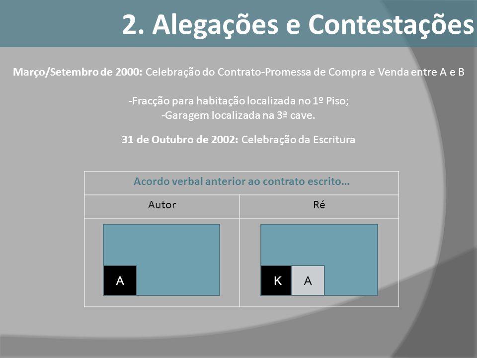 2. Alegações e Contestações