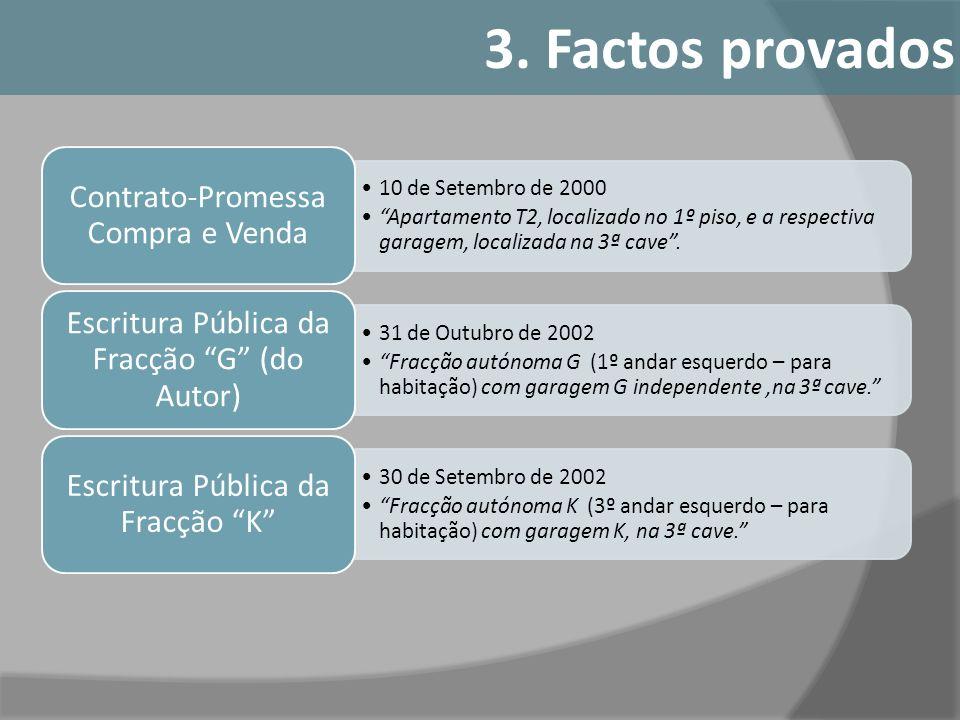 3. Factos provados Contrato-Promessa Compra e Venda
