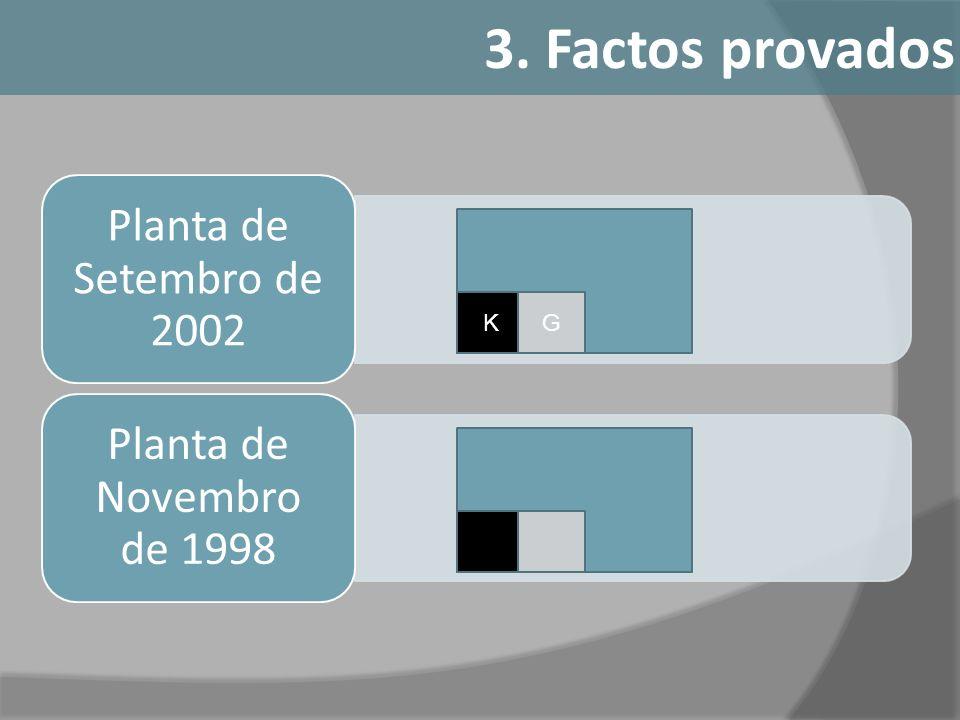 3. Factos provados Planta de Novembro de 1998