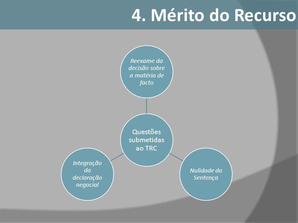 4. Mérito do Recurso Questões submetidas ao TRC
