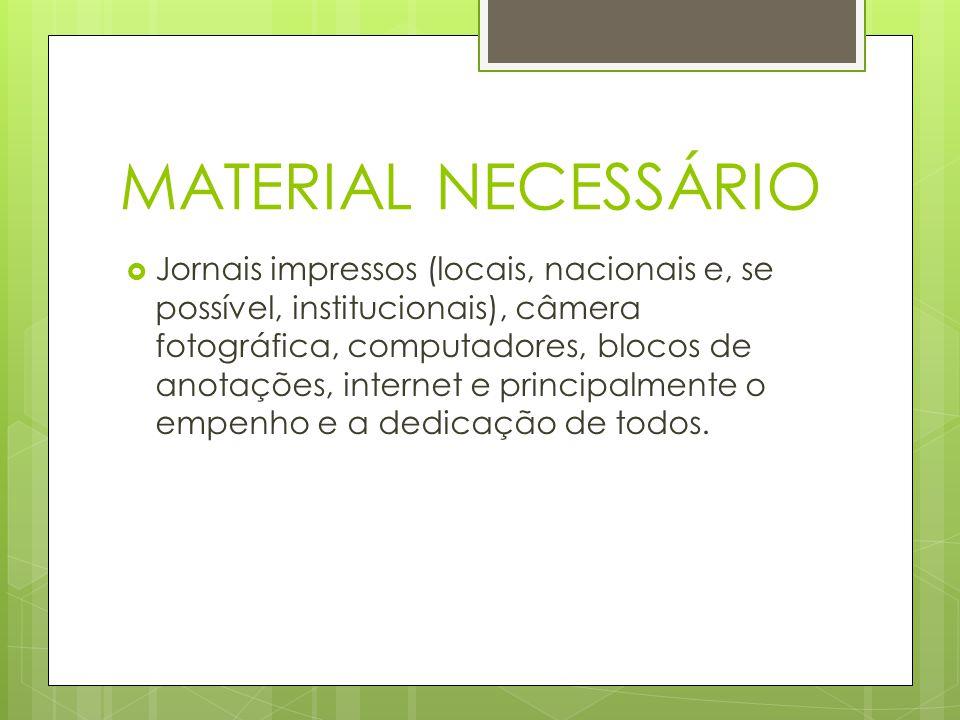 MATERIAL NECESSÁRIO
