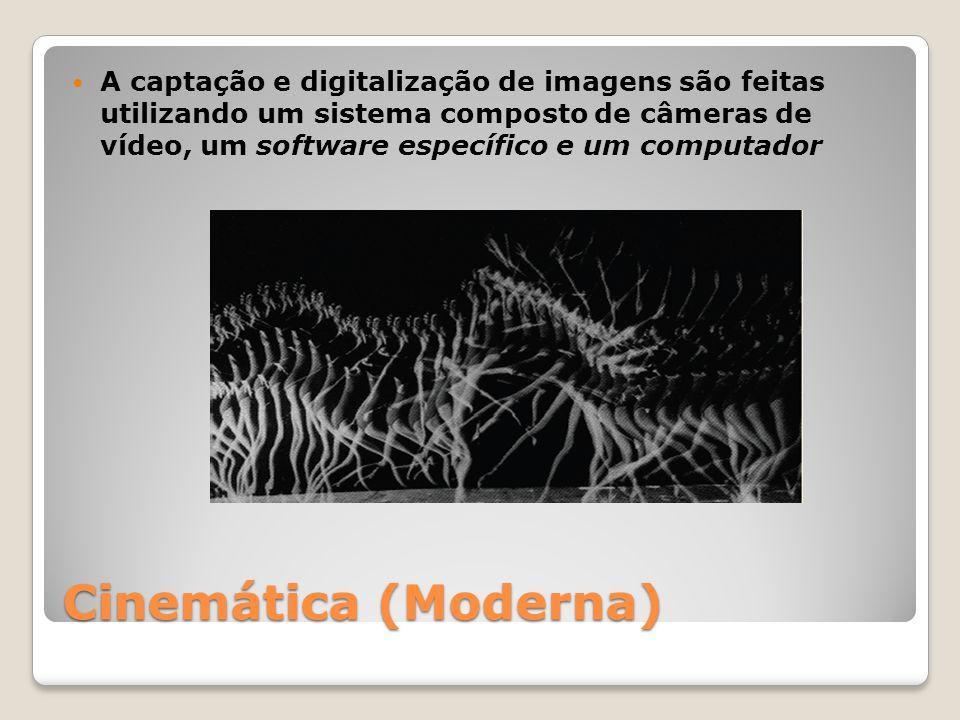 A captação e digitalização de imagens são feitas utilizando um sistema composto de câmeras de vídeo, um software específico e um computador