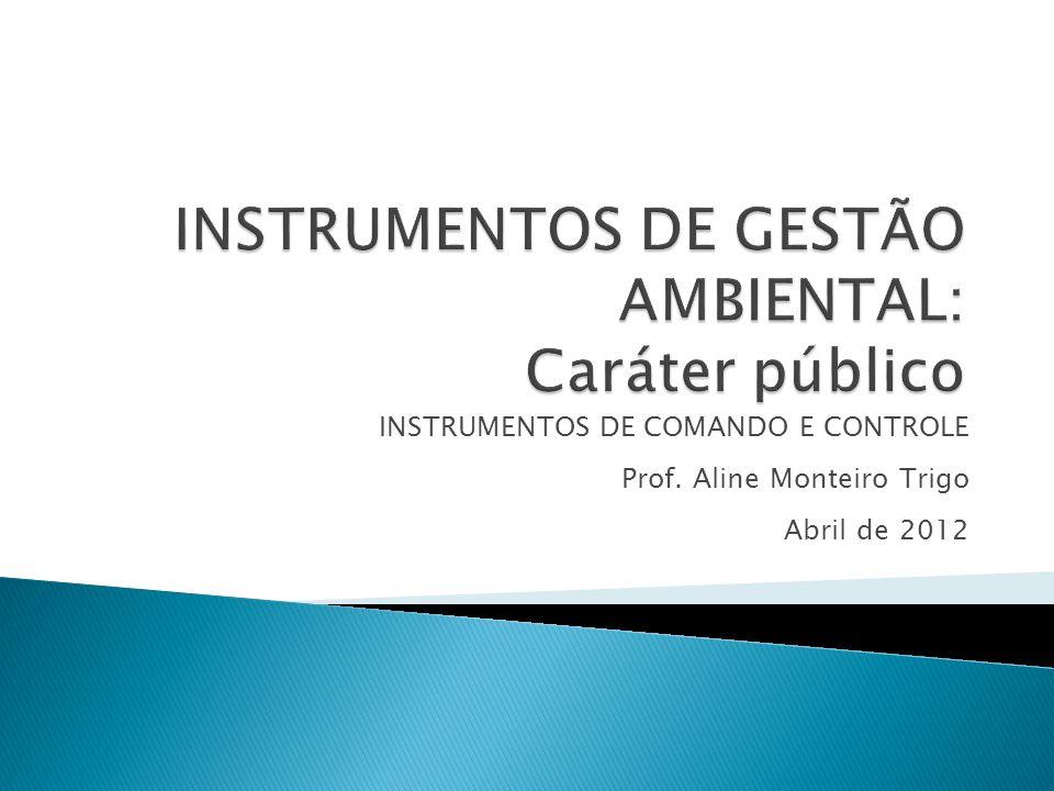 INSTRUMENTOS DE GESTÃO AMBIENTAL: Caráter público