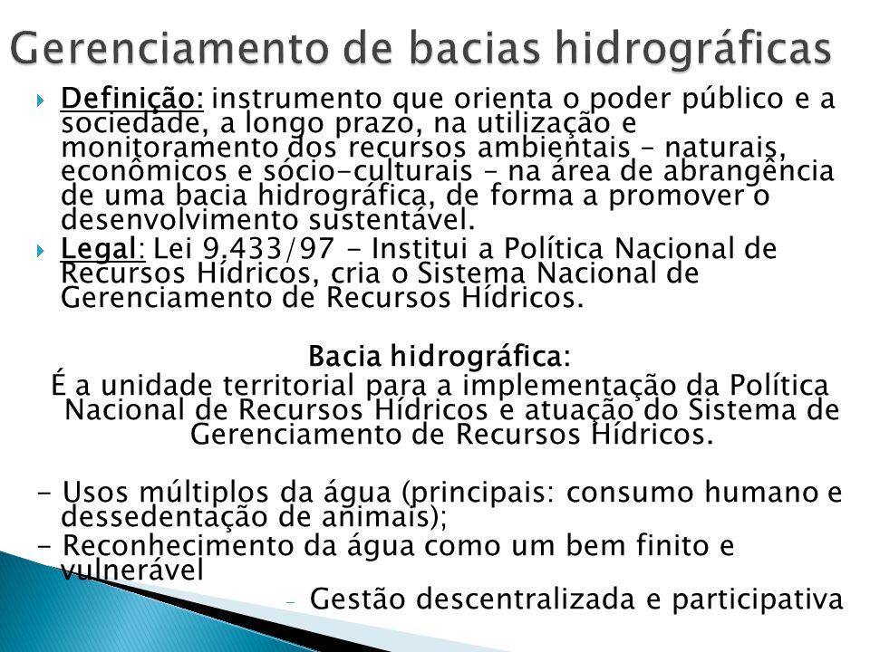 Gerenciamento de bacias hidrográficas