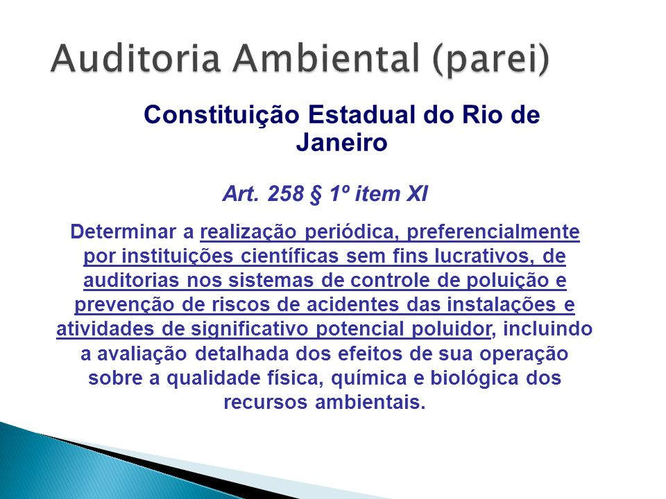 Auditoria Ambiental (parei)