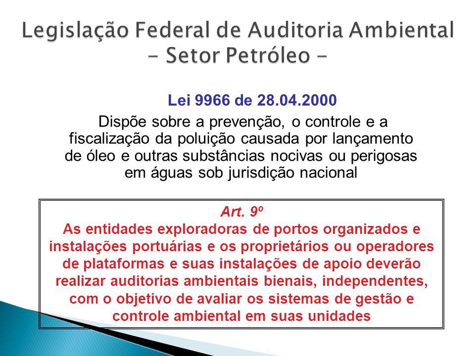Legislação Federal de Auditoria Ambiental - Setor Petróleo -