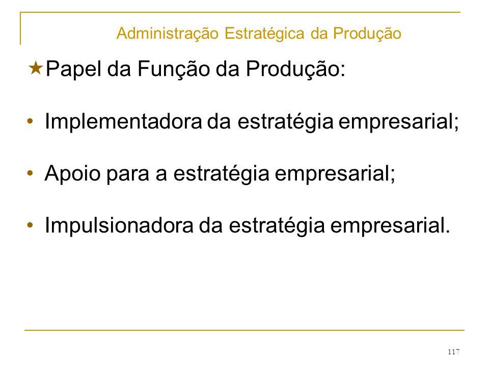 Administração Estratégica da Produção