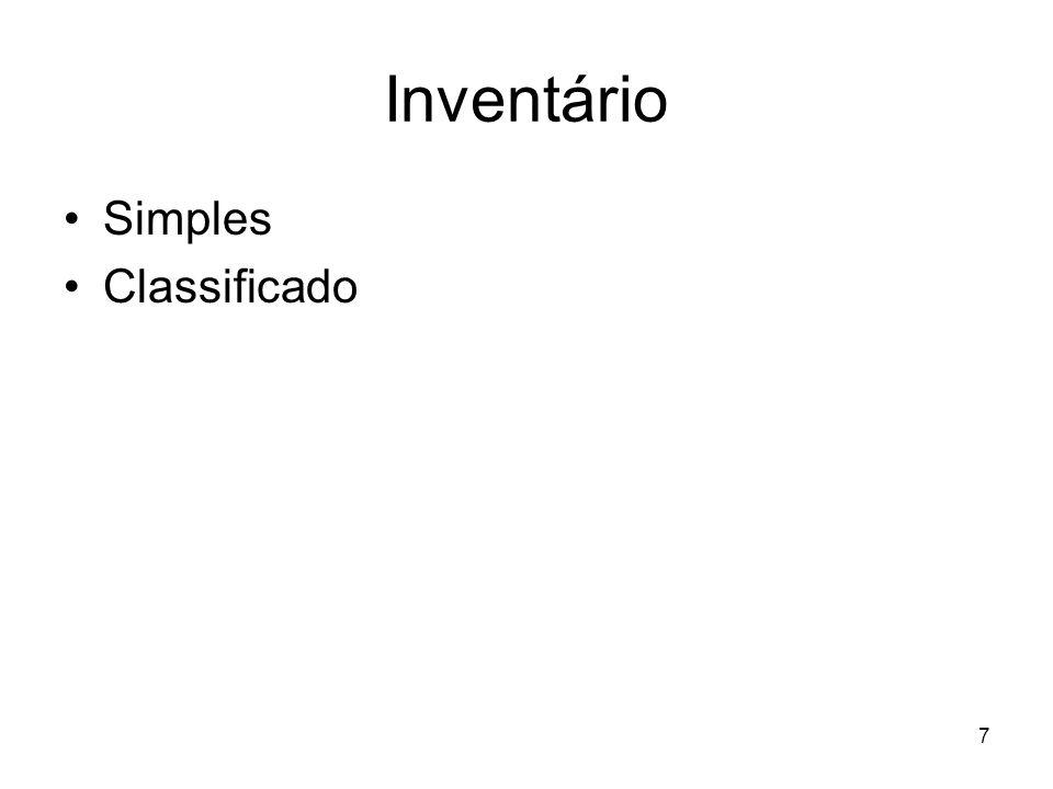 Inventário Simples Classificado