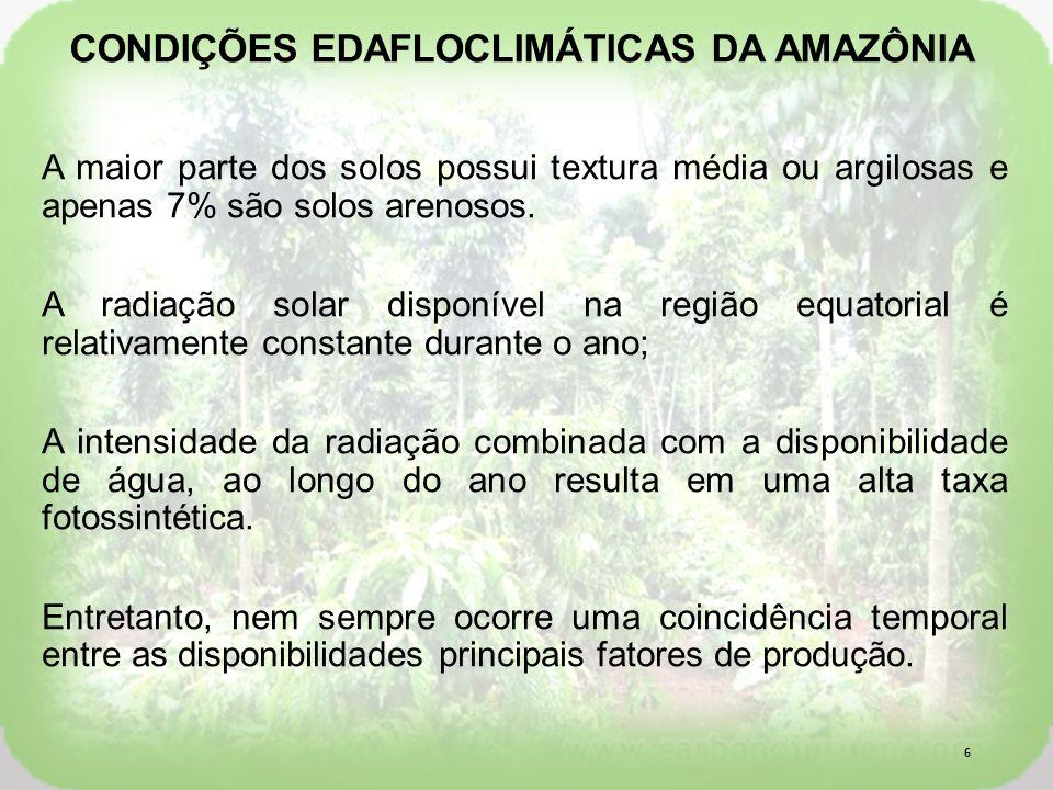 CONDIÇÕES EDAFLOCLIMÁTICAS DA AMAZÔNIA