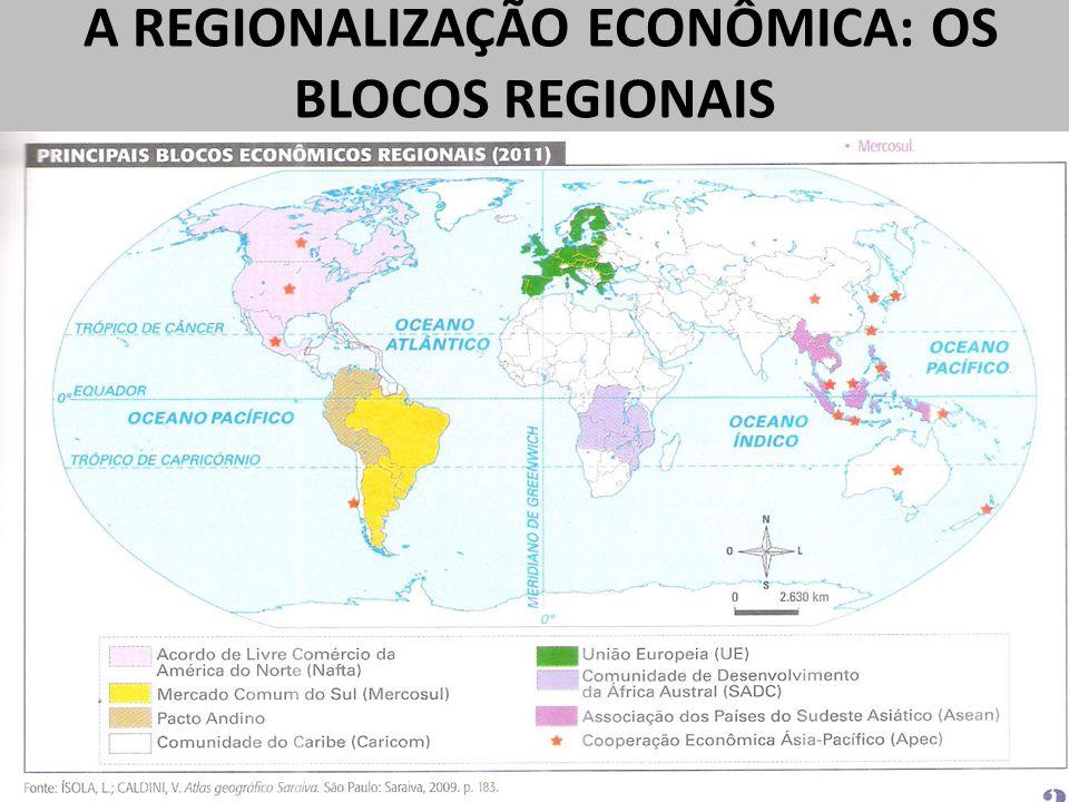 A REGIONALIZAÇÃO ECONÔMICA: OS BLOCOS REGIONAIS