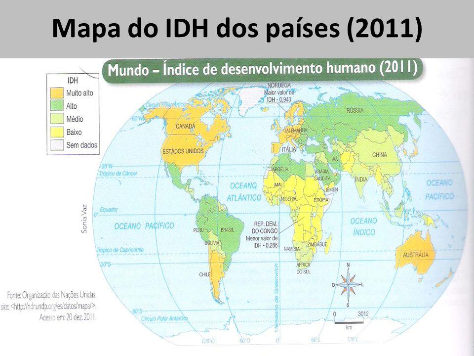 Mapa do IDH dos países (2011)