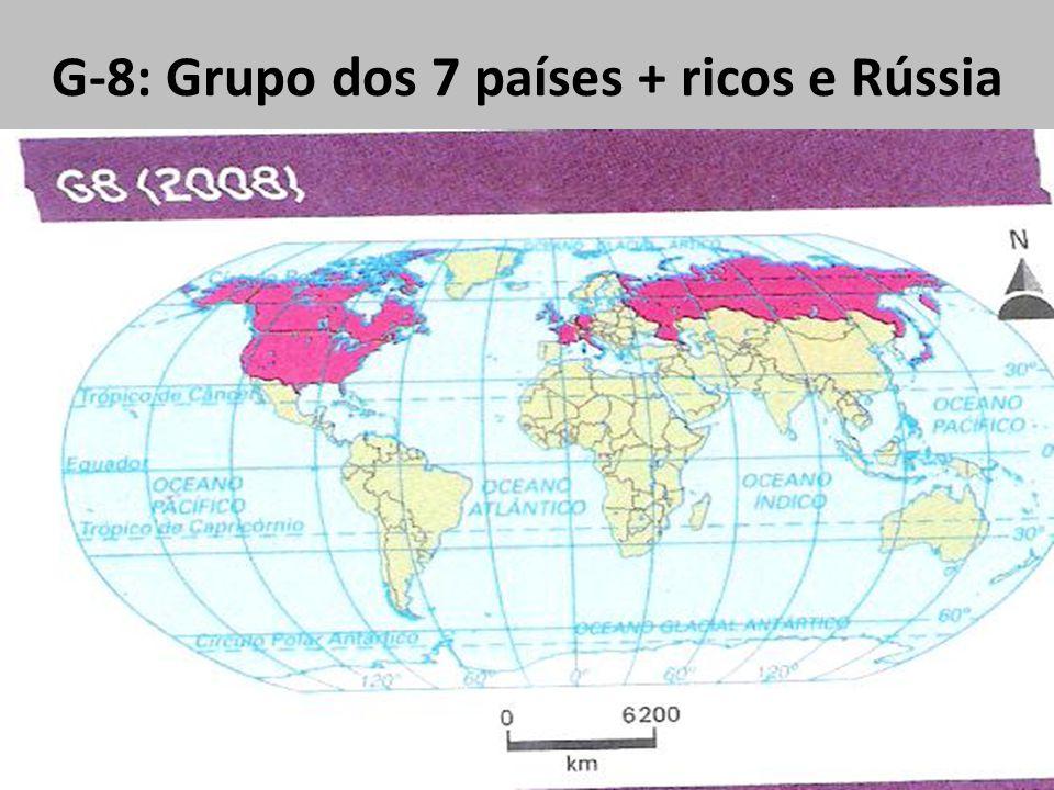 G-8: Grupo dos 7 países + ricos e Rússia
