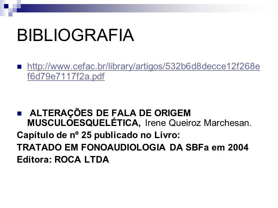 BIBLIOGRAFIA http://www.cefac.br/library/artigos/532b6d8decce12f268ef6d79e7117f2a.pdf.