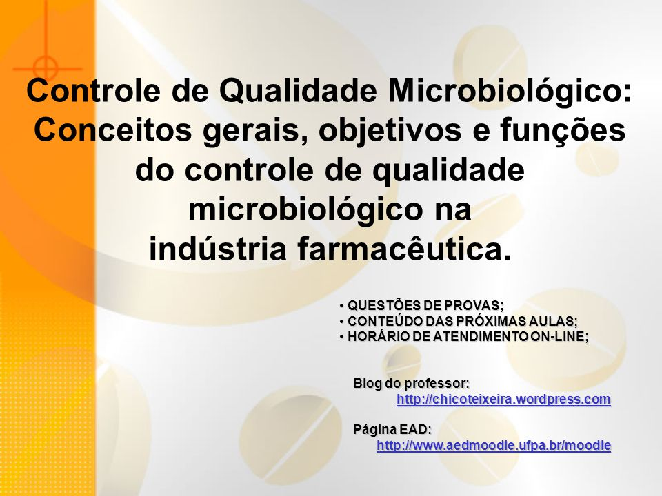 Controle de Qualidade Microbiológico: