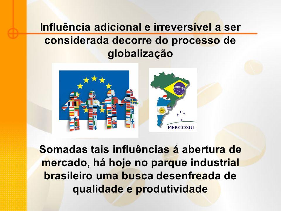 Influência adicional e irreversível a ser considerada decorre do processo de globalização