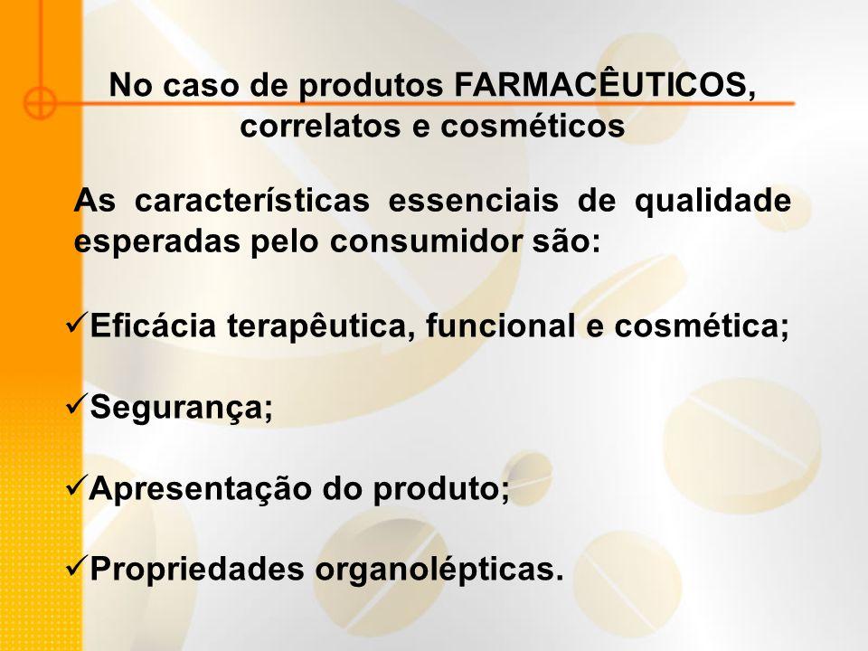 No caso de produtos FARMACÊUTICOS, correlatos e cosméticos