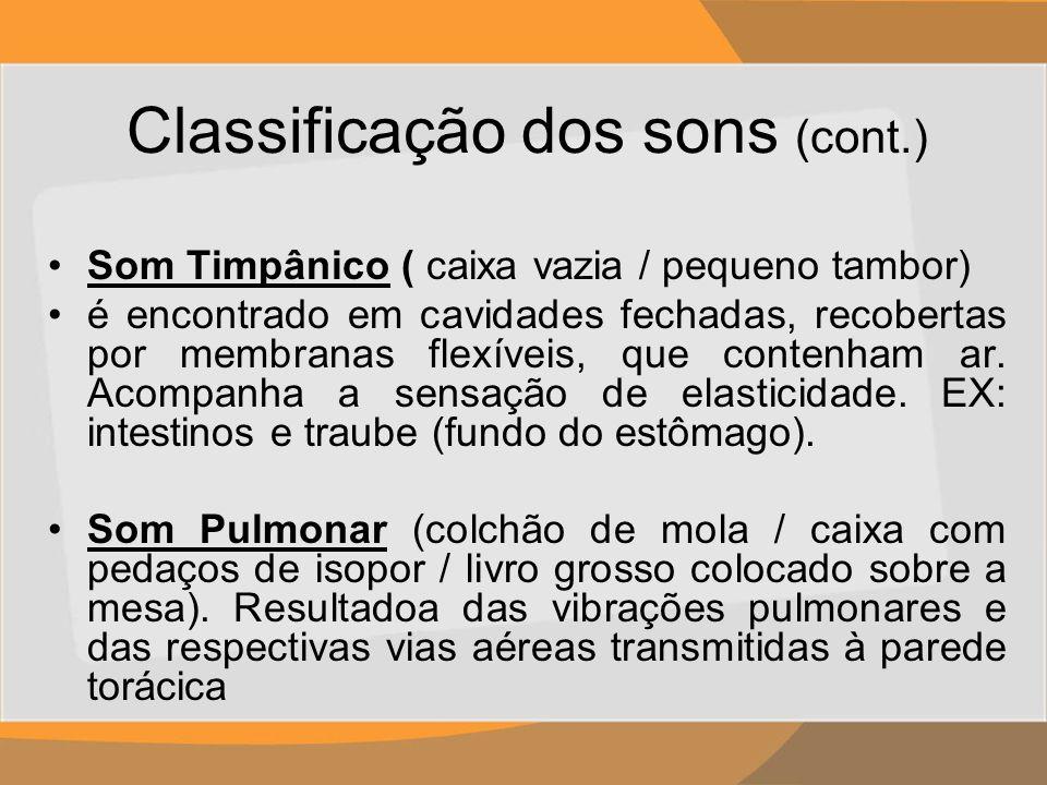 Classificação dos sons (cont.)