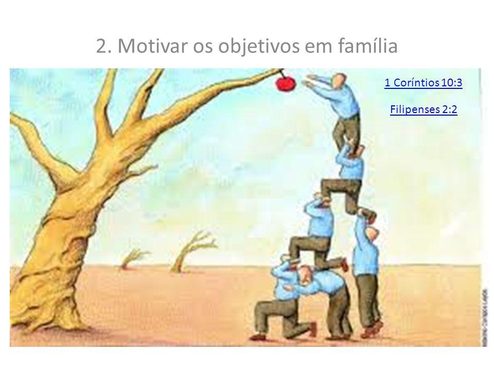 2. Motivar os objetivos em família