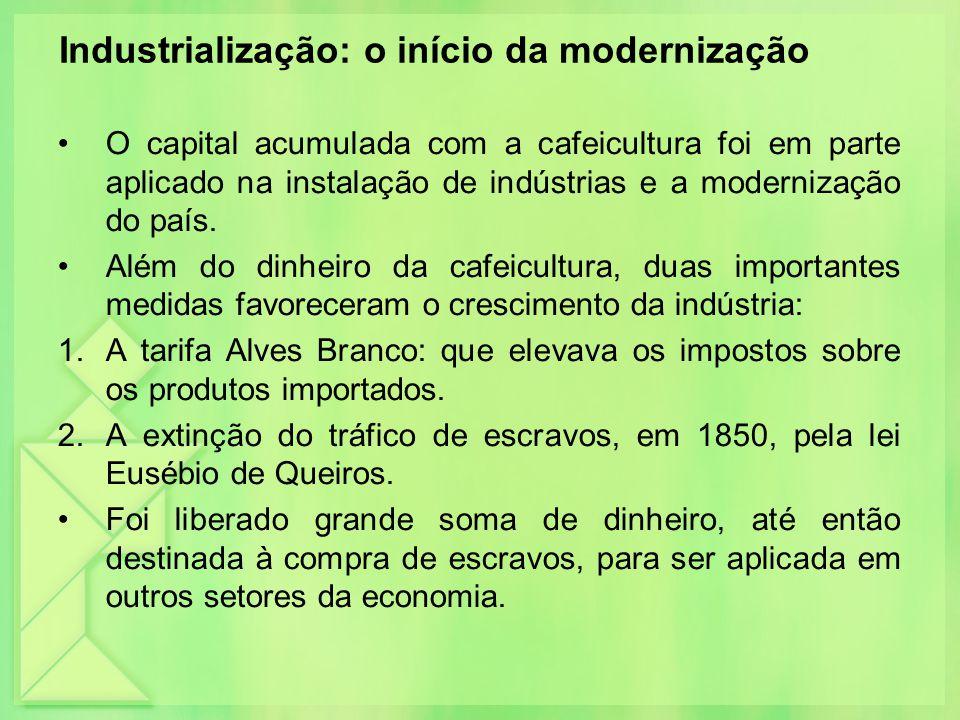 Industrialização: o início da modernização