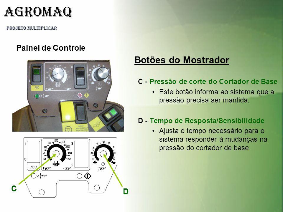 Botões do Mostrador Painel de Controle C D