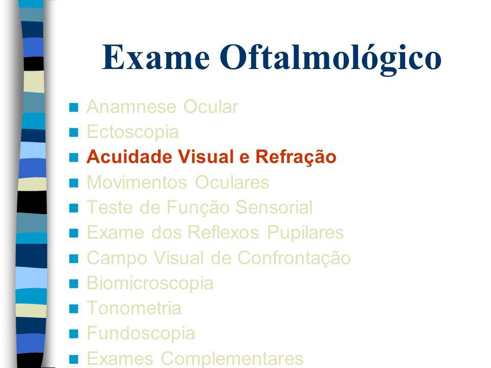 Exame Oftalmológico Anamnese Ocular Ectoscopia