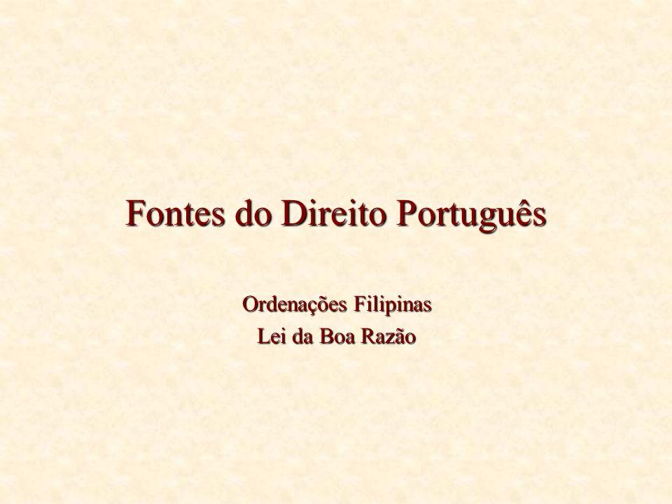 Fontes do Direito Português