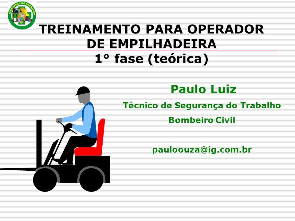 TREINAMENTO PARA OPERADOR DE EMPILHADEIRA 1° fase (teórica)