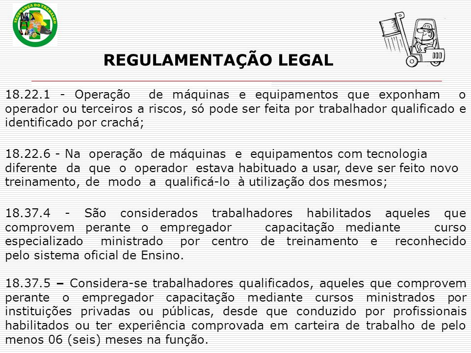 REGULAMENTAÇÃO LEGAL