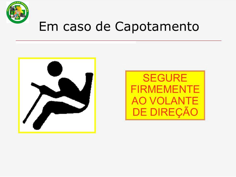 SEGURE FIRMEMENTE AO VOLANTE DE DIREÇÃO