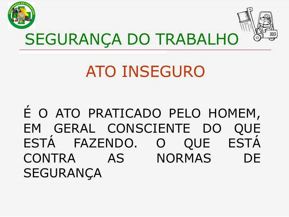 SEGURANÇA DO TRABALHO ATO INSEGURO