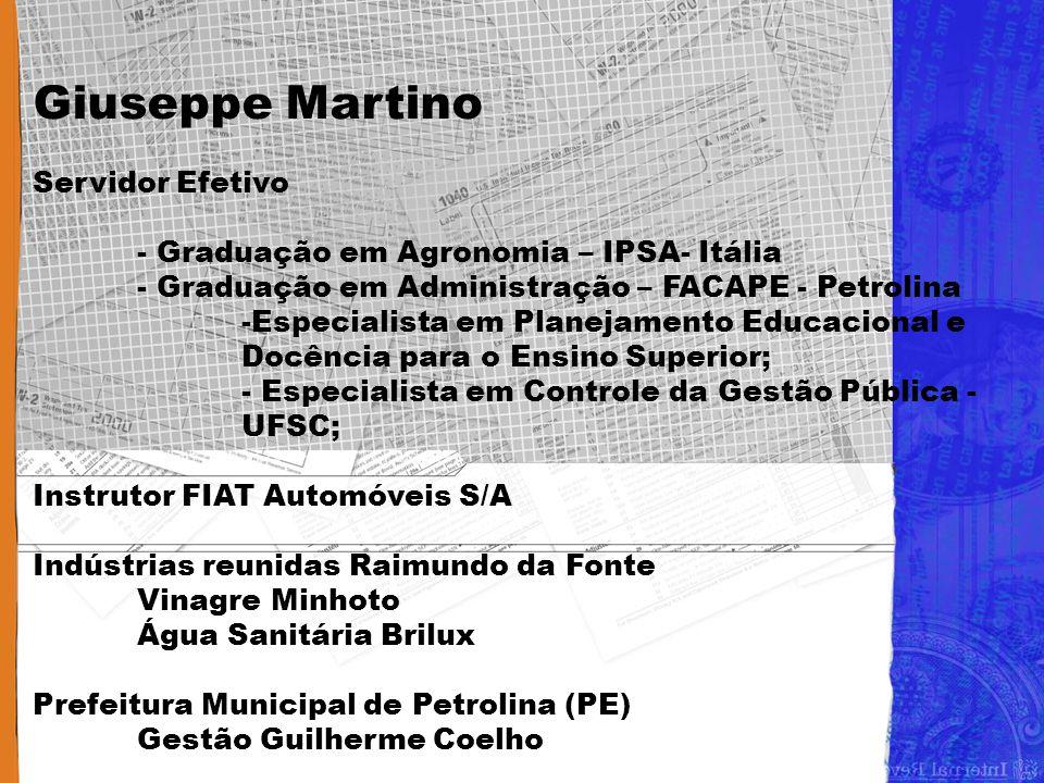 Giuseppe Martino Servidor Efetivo