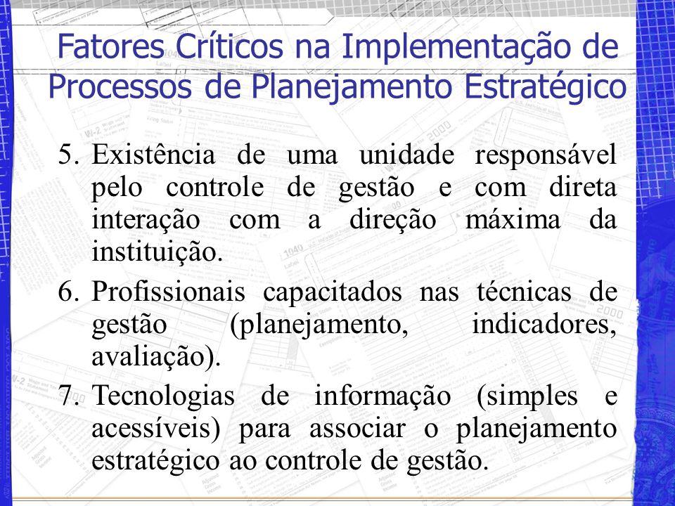 Fatores Críticos na Implementação de Processos de Planejamento Estratégico