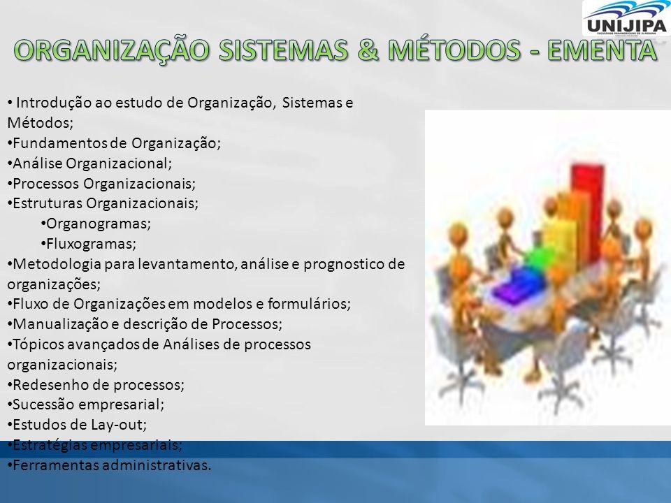 Organização sistemas & métodos - ementa