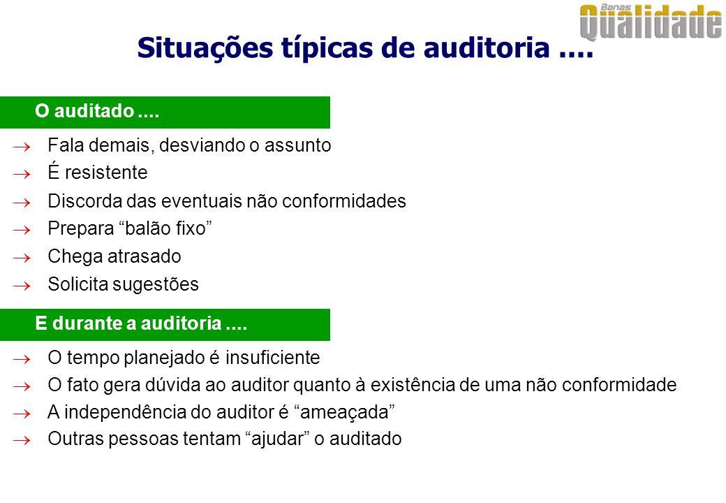 Situações típicas de auditoria ....