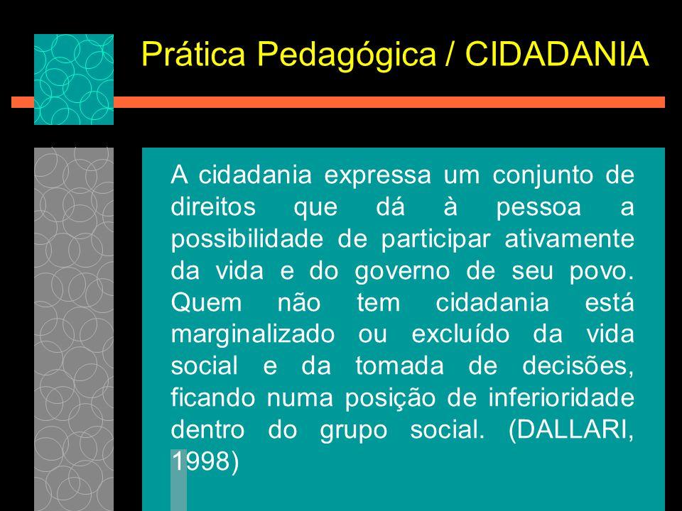 Prática Pedagógica / CIDADANIA