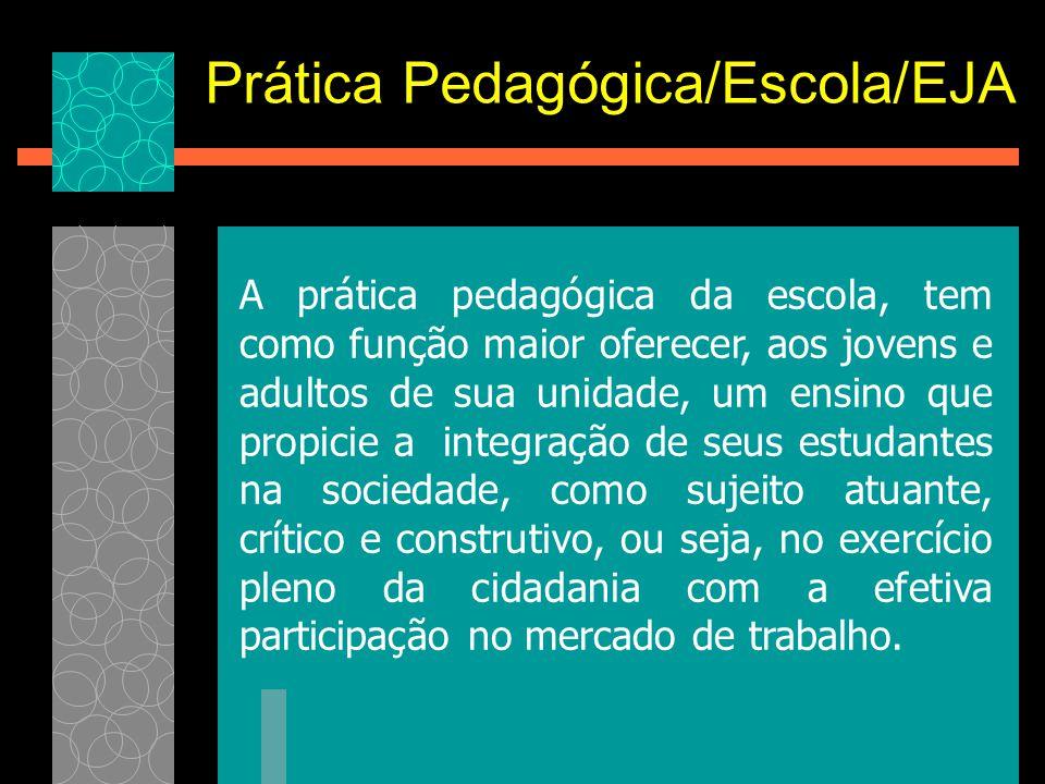 Prática Pedagógica/Escola/EJA