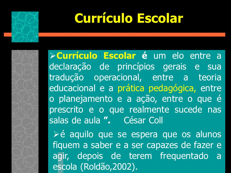 Currículo Escolar