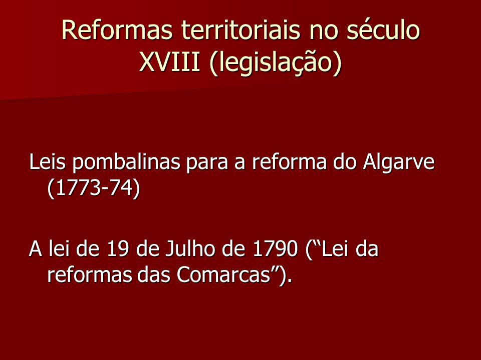 Reformas territoriais no século XVIII (legislação)