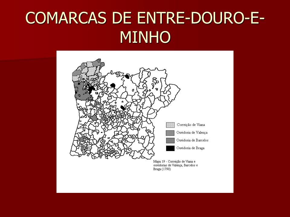 COMARCAS DE ENTRE-DOURO-E-MINHO