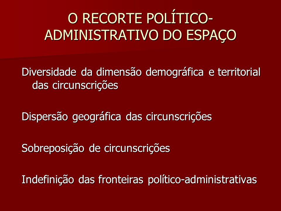 O RECORTE POLÍTICO-ADMINISTRATIVO DO ESPAÇO