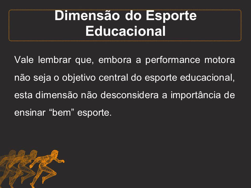 Dimensão do Esporte Educacional
