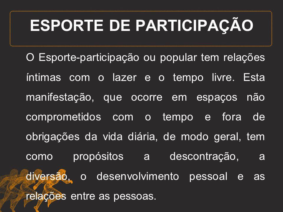 ESPORTE DE PARTICIPAÇÃO