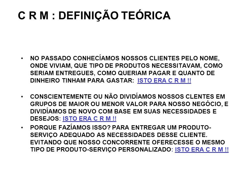 C R M : DEFINIÇÃO TEÓRICA