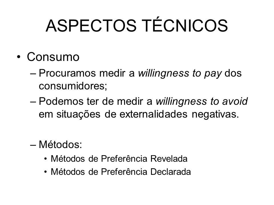 ASPECTOS TÉCNICOS Consumo