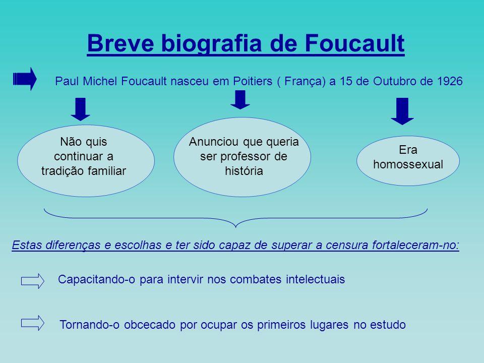 Breve biografia de Foucault