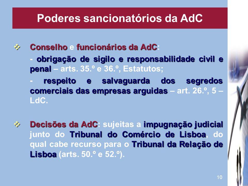 Poderes sancionatórios da AdC