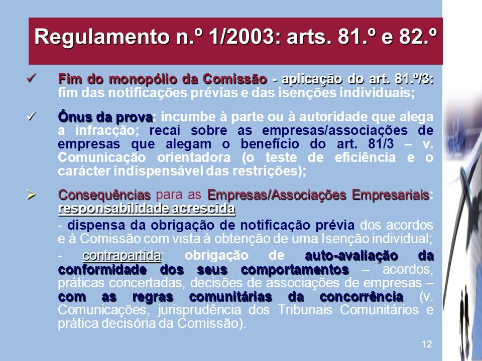 Regulamento n.º 1/2003: arts. 81.º e 82.º