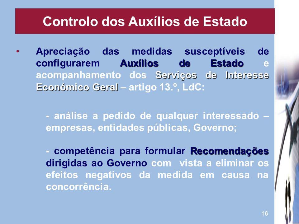 Controlo dos Auxílios de Estado