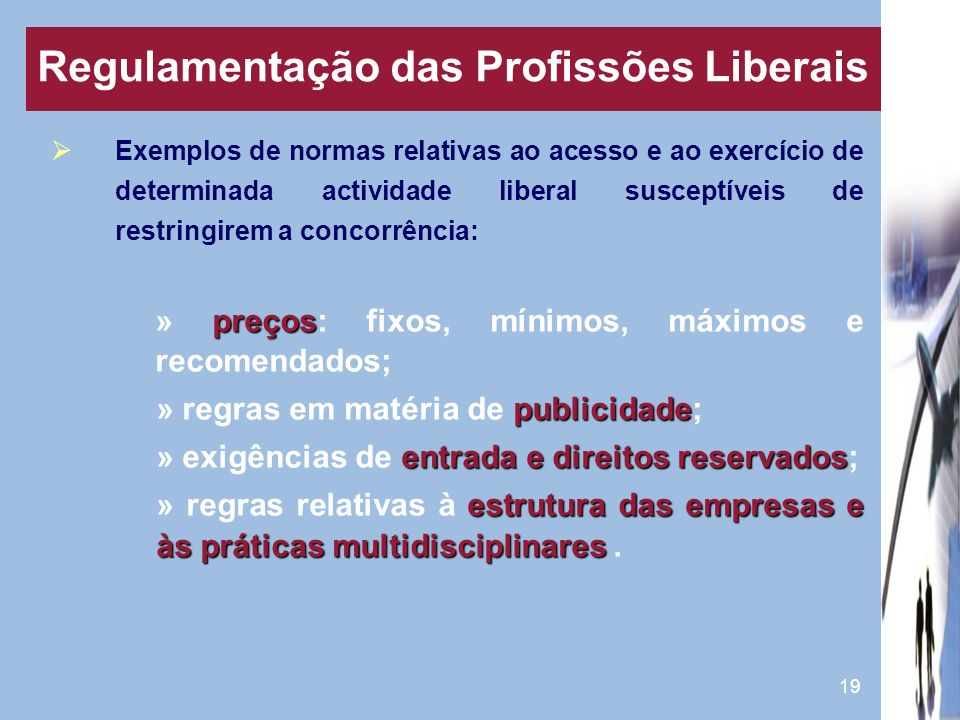 Regulamentação das Profissões Liberais