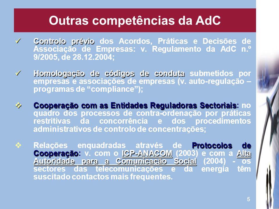 Outras competências da AdC
